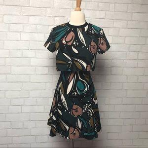 Top Shop Crop Top Mini Dress